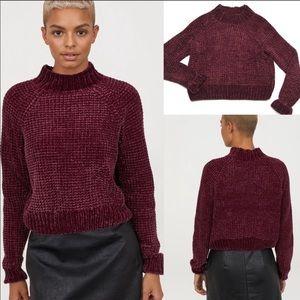 • H&M Divided Chenile Mock Neck Sweater